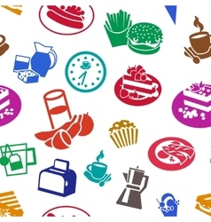 Flat Cereal Pattern vector image vector image