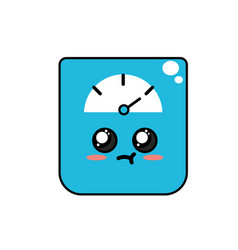 Kawaii cute tender weighing machine vector