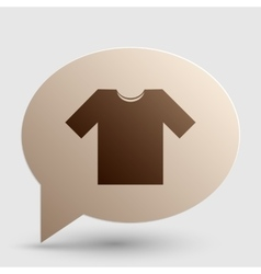 T-shirt sign Brown gradient icon on vector image vector image