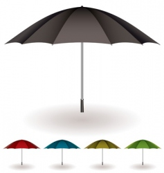 umbrella colorful collection vector image vector image