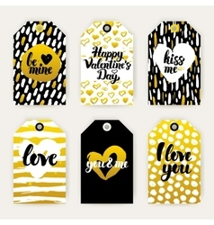 Valentines Day Trendy Gift Labels vector image