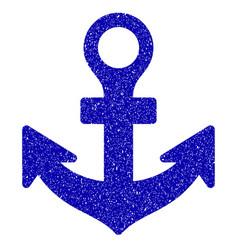 Anchor icon grunge watermark vector