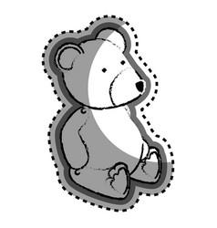 bear teddy baby toy icon vector image