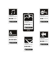 Download applications vector image vector image