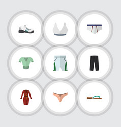 Flat icon clothes set of trunks cloth casual vector