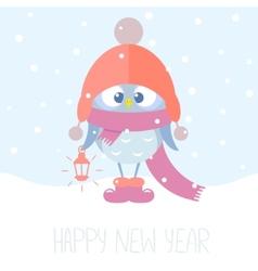 owlet winter vector image