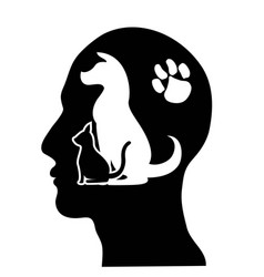 people caring pets background vector image