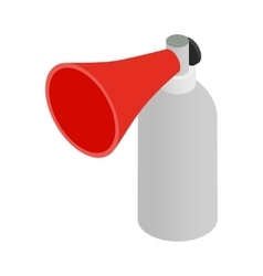 Portable plastic red megaphone isometric 3d icon vector image vector image