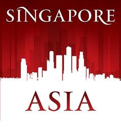 Singapore Asia city skyline silhouette vector image