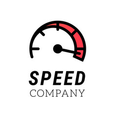 speed logo internet or car abstract symbol of vector image vector image