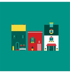 Itallian street houses vector image
