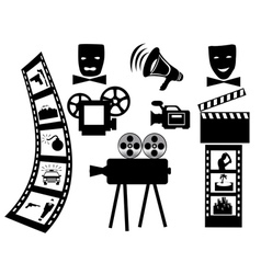 Items for shooting movies vector