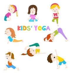 Kids Yoga vector image vector image