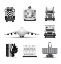 logistic icons | bw series vector image