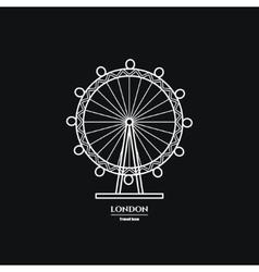 London Eye Icon vector image