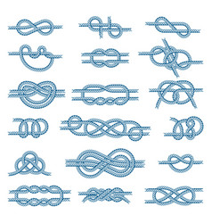 sea boat knots set isolated on vector image