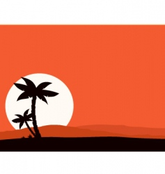 tropical holiday background vector image vector image