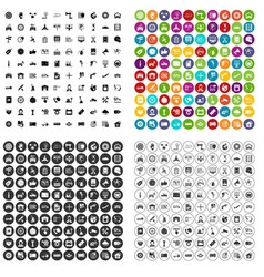 100 maintenance icons set variant vector