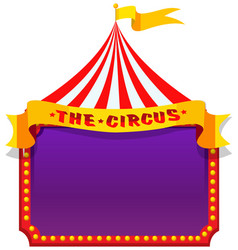 a circus on note template vector image