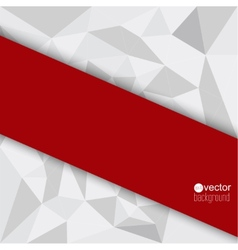 abstract background with red triangles vector image