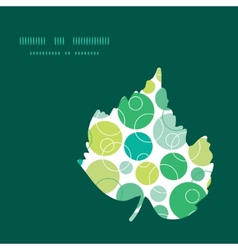 abstract green circles leaf silhouette vector image