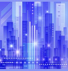 Abstract modern cityscape vector