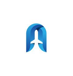 aeroplane-logo-template vector image