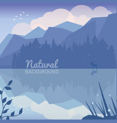 Alaska landscape natural background vector