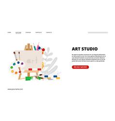art studio landing page vector image