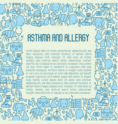 Asthma and allergy concept for web page vector