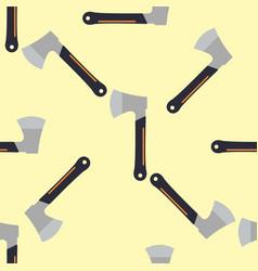 axe seamless pattern lumberjack wood blade vector image