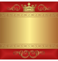 background with crown vector image