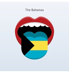 Bahamas language Abstract human tongue vector