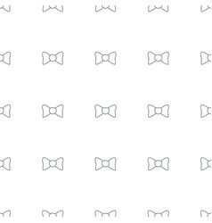 bow tie icon pattern seamless white background vector image