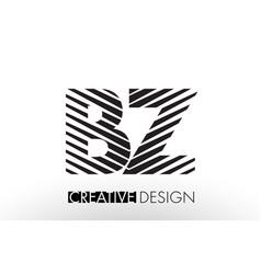Bz b z lines letter design with creative elegant vector