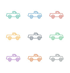 Car icon white background vector