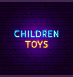children toys neon text vector image