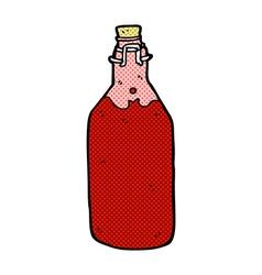 Comic cartoon homemade wine bottle vector