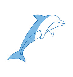 dolphin fish marine animal wildlife vector image