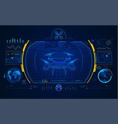 drone interface vector image