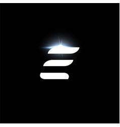 E letter logo bold italic letter for automotive vector