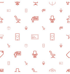 Empty icons pattern seamless white background vector