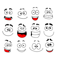 face emotion icon of emoticon smiley and emoji vector image