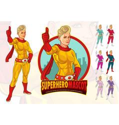female superhero mascot for company vector image