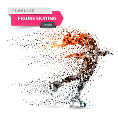 figure skating - dot sport template vector image