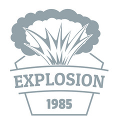 Fire explosion logo simple gray style vector