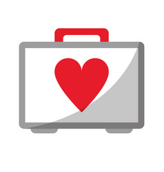 First aid kit emergency heart care vector