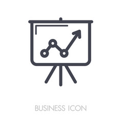Flip-chart outline icon business sign vector
