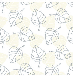 floral garden beautiful leaves seamless pattern vector image