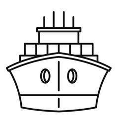 Front container ship icon outline style vector